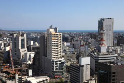 静岡県庁別館から静岡市街の眺め