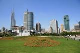 人民広場から上海の超高層ビル群