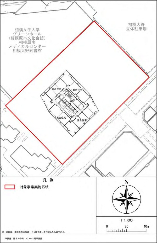 (仮称)相模大野4丁目計画 42〜43階平面図