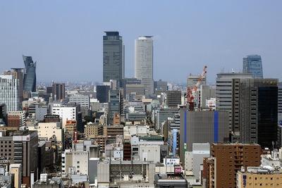 名古屋テレビ塔から名古屋駅方面の超高層ビル群