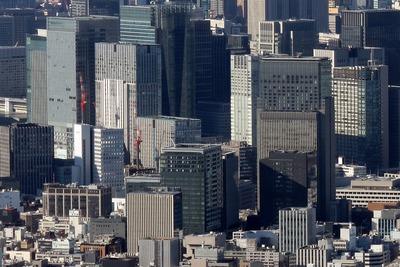 東京スカイツリーから見た新鉄鋼ビル
