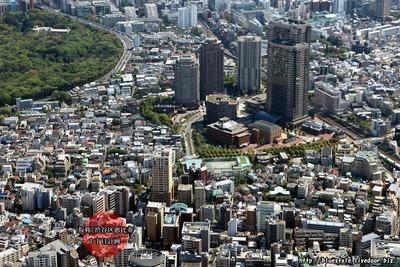 (仮称)渋谷区恵比寿1丁目計画の建設地の空撮