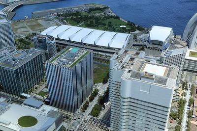 横浜ランドマークタワーから見た32街区プロジェクト
