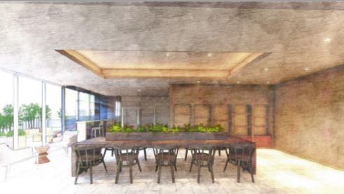平井五丁目駅前地区第一種市街地再開発事業 3F 住宅共用部ライブラリーラウンジ完成イメージ