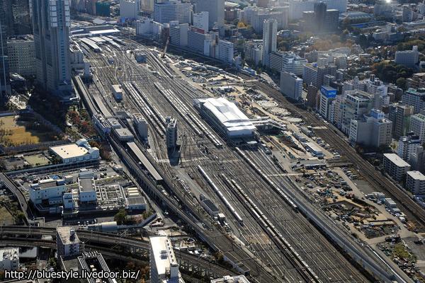 高輪ゲートウェイ駅の空撮