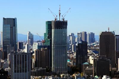 世界貿易センターから見た虎ノ門・六本木地区第一種市街地再開発事業
