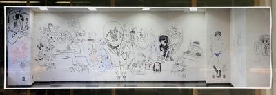小学館ビルの漫画家達の落書き