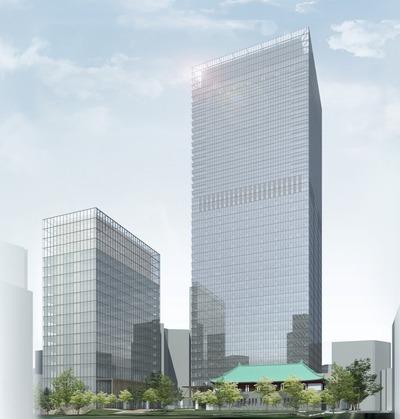 ホテルオークラ東京本館の完成予想図