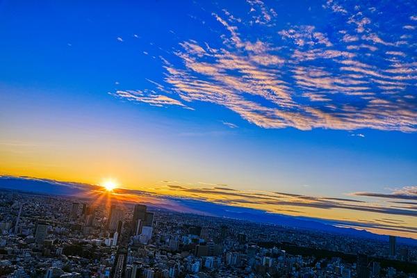 渋谷方面の夕焼け