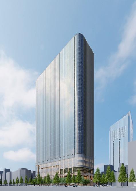 虎ノ門一丁目東地区第一種市街地再開発事業 外観イメージパース