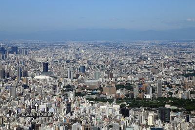 東京スカイツリーから御徒町方面の眺め