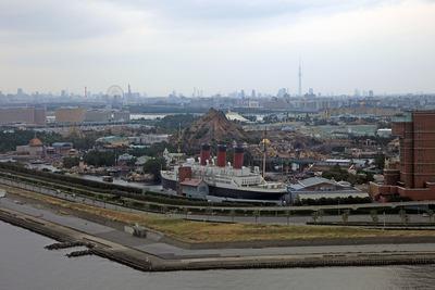 東京スカイツリーとディズニーの空撮