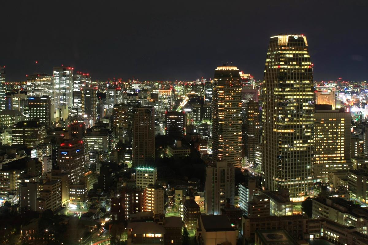 東京タワーの大展望台からの ...