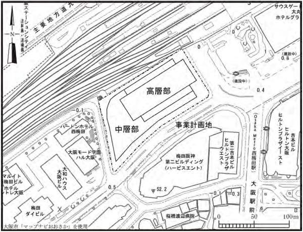 梅田3丁目計画(仮称) 配置図
