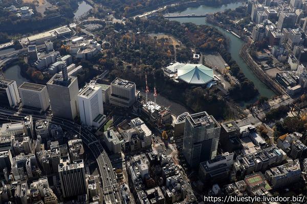 (仮称)九段南一丁目プロジェクトの空撮