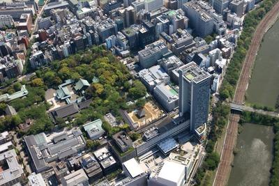 法政大学と靖国神社の空撮