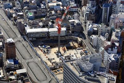 サンシャイン60から見た南池袋二丁目A地区第一種市街地再開発事業