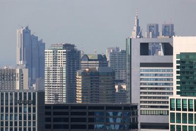 ベイシティ晴海スカイリンクタワーから赤坂・新宿方面