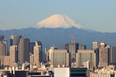 東京超高層ビル群と富士山