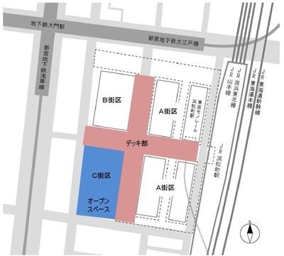 浜松町二丁目C地区再開発 配置図
