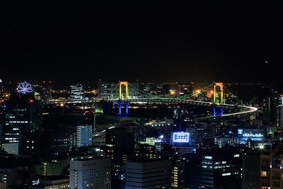 東京タワーからレインボーブリッジ方面の夜景
