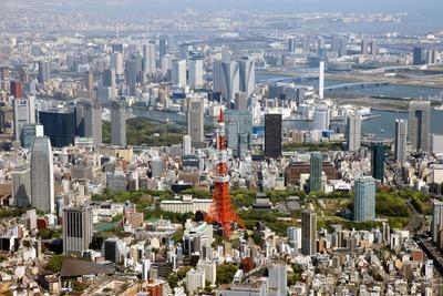 東京タワー方面の空撮!