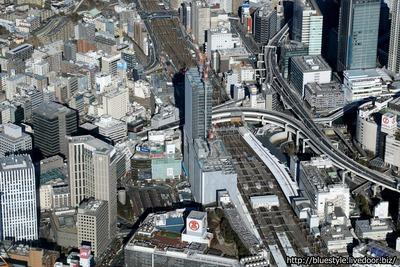 JR横浜タワーの空撮