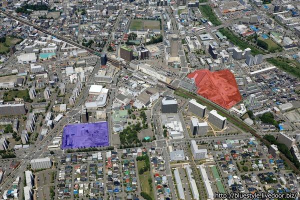 (仮称)新さっぽろ駅周辺地区G・I街区開発プロジェクトの空撮