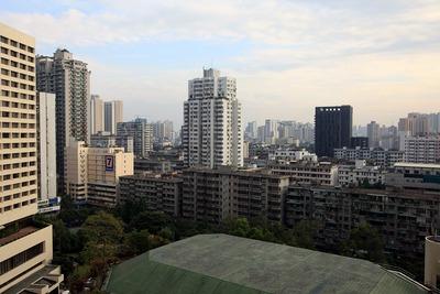 広州の花園酒店(Garden Hotel)の客室からの眺め