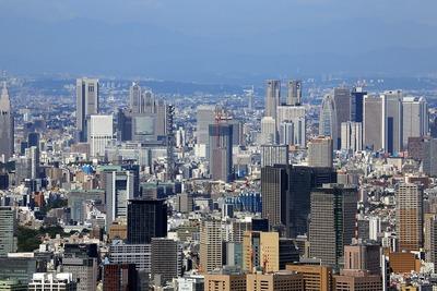 東京スカイツリーから見た富久クロス(Tomihisa Cross)方面