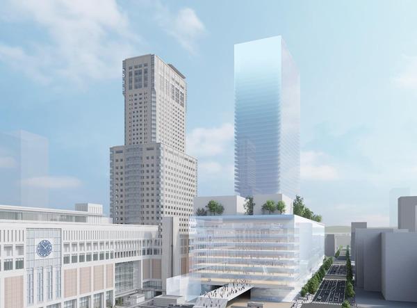 札幌駅交流拠点北5西1・西2地区市街地再開発 施設イメージ