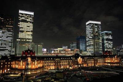 東京ステーションホテル開業100周年記念 東京駅丸の内駅舎特別ライトアップ