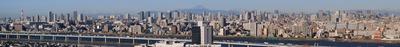 東京都心のパノラマ超高層ビル群