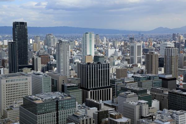 コンラッド大阪からの眺め