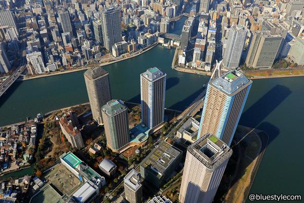 リバーシティ21のタワーマンション群