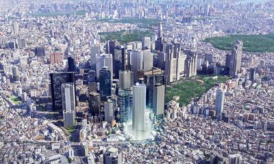 (仮称)西新宿HOMETOWN プロジェクトの完成予想図