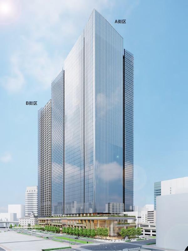日本橋一丁目東地区第一種市街地再開発事業 将来完成予想図(A,B街区)