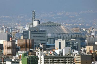 通天閣から京セラドーム大阪