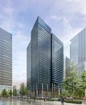 (仮称)大手町一丁目第3地区第一種市街地再開発事業 A棟の完成予想図