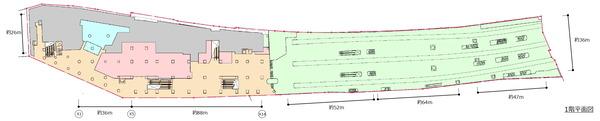 (仮称)新宿駅西口地区開発計画 1階平面図