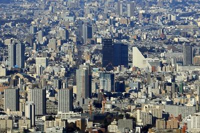 東京スカイツリーから見たクラッシィタワー東中野