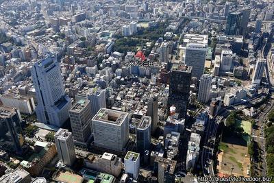メゾン三田の空撮