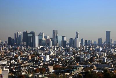 練馬区役所から新宿の超高層ビル群