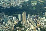 青山と赤坂御用地の空撮