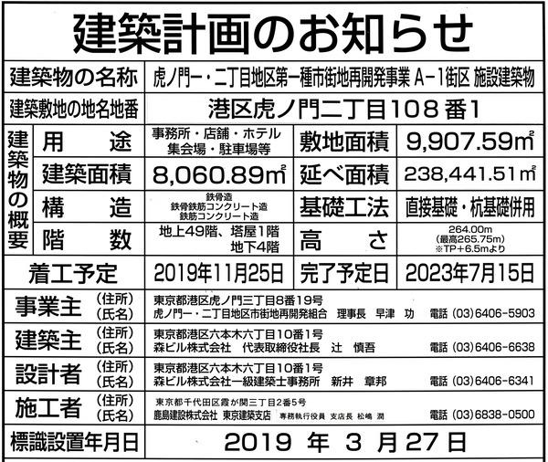 虎ノ門ヒルズ ステーションタワー 建築計画のお知らせ