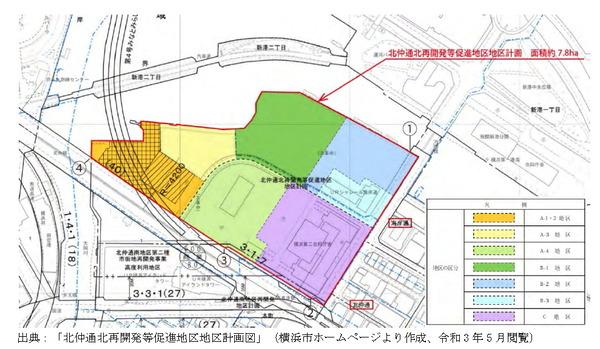 北仲通北再開発促進地区地区計画図