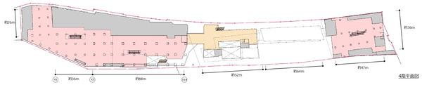 (仮称)新宿駅西口地区開発計画 4階平面図