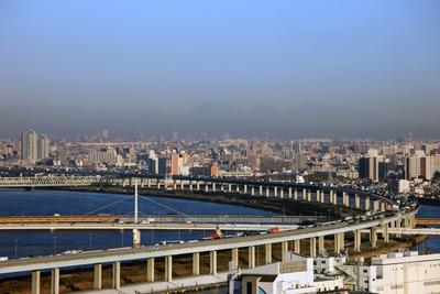 船堀駅前トキタワーから見た男体山