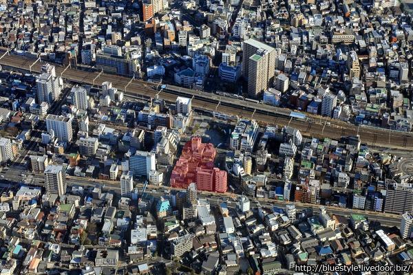 平井五丁目駅前地区第一種市街地再開発事業 建設地の空撮