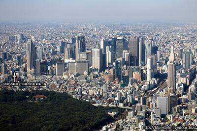 (仮称)西新宿3丁目複合計画 新築工事の建設地の空撮